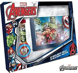 Kids Licensing  Reloj Digital + Billetera para Niños   Reloj Avengers   Billetera Avengers   Set Reloj y Billetera Infanti...