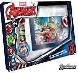 Kids Licensing |Reloj Digital + Billetera para Niños | Reloj Avengers | Billetera Avengers | Set...