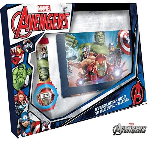 Kids Licensing Avengers MV15407 Set mit Digitaluhr und Geldbörse