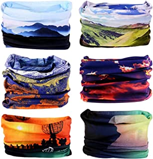 Zupoo TM Flowers& Plants Series 16-in-1 Multifunctional Headband Sports Magic Scarf,Collars Muffler Scarf Face Mask