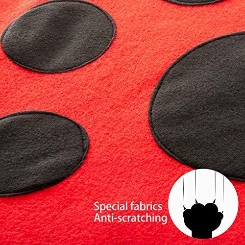 Tofern Katzenbett Katzenzelt Katzenkissen Tierbett Katzenspielzeug faltbar waschbar, Rot - 4