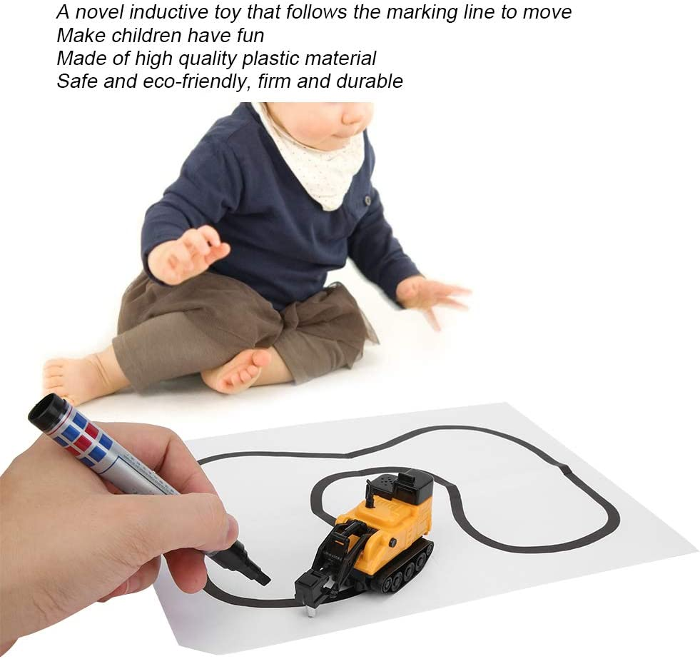 Zerodis Inductive Robot Draw Line Following Robot Toy Car Induction Pen Follow Toy learning Educational interactive Toy gift for children kids toddler #2
