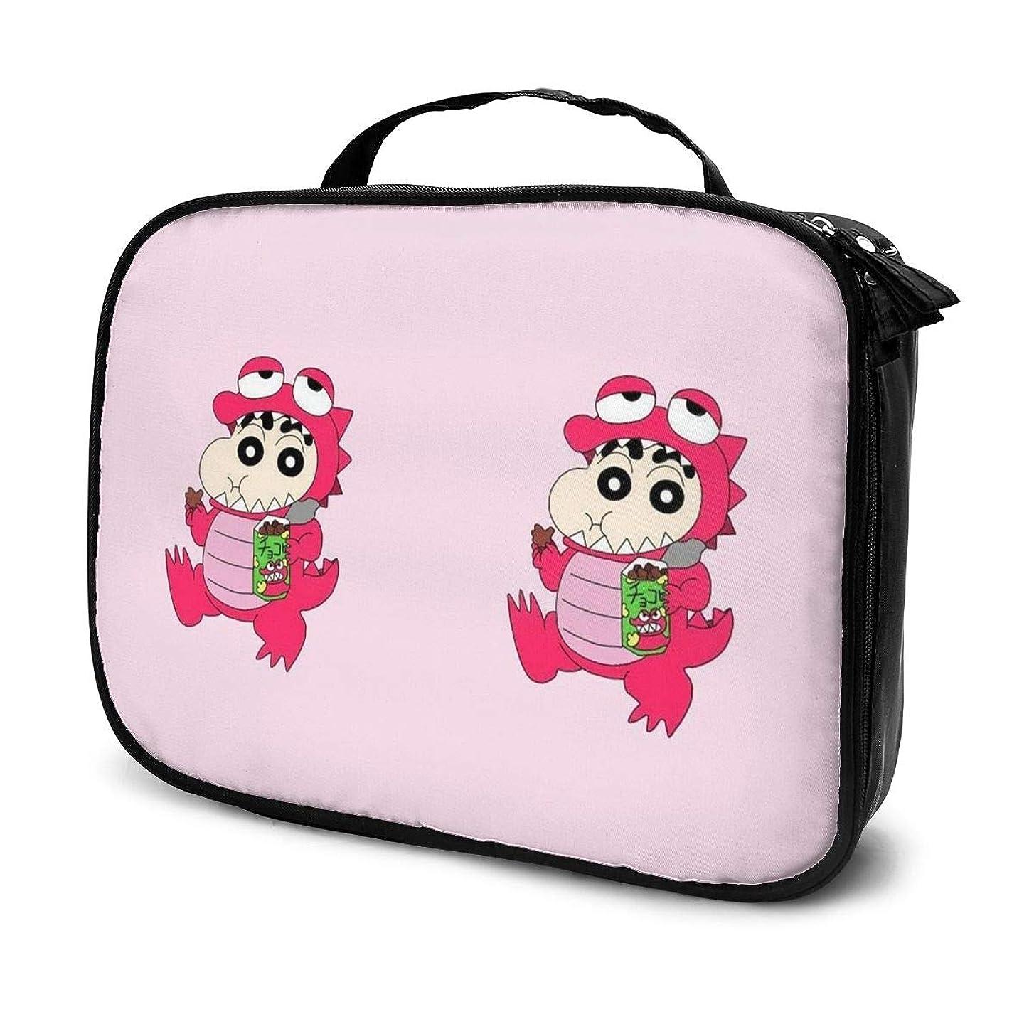 相手受動的調整するDaitu恐竜クレヨンしんちゃん 化粧品袋の女性旅行バッグ収納大容量防水アクセサリー旅行