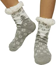 Paladoo Women's Fuzzy Slipper Socks Fleece Lined Super Warm Winter