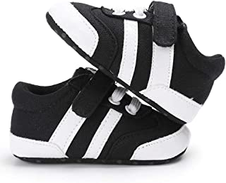 Unisex Baby Boy Girl Canvas Sneaker Soft Sole High-Top Ankle Infant First Walkers Crib Shoes