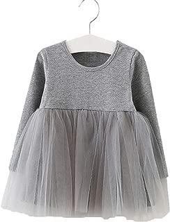 Baby Girls Tutu Dress Toddler Infant Tulle Dresses Long Sleeve Tutu Dress Princess Party Dresses