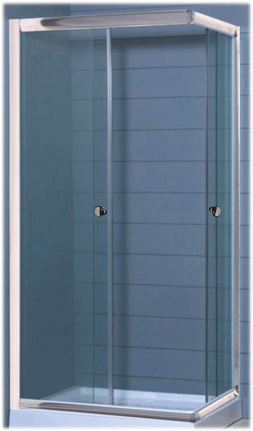 GABBIANO Cabina de ducha con 2 puertas de cristal transparente de 5 mm, 70 x 90 cm: Amazon.es: Hogar