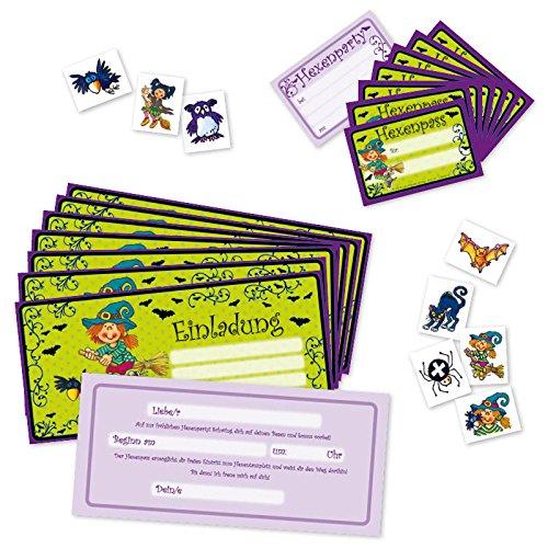 Lutz Mauder 23004 - Falzkarte Kindergeburtstags-Einladungs-Set Hexe