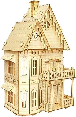 mejor vendido Lhcar DIY 3D Rompecabezas de Madera gótico Vil Arts Craft Craft Craft Home Decor Niño cumpleaños Regalos Kit Niños Inteligencia Juguete Modelo de Madera Rompecabezas  venta de ofertas