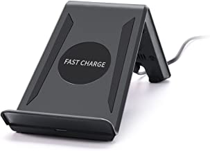 Itian Wireless Charger Fast Charging Qi 3 Coils Wireless Charging Pad Phone Mount Stand Holder A6-10W Wireless Charger Stand for Samsung Galaxy S6/S6 Edge/S7/S7 Edge/Note5 (Power Adapter Excluded)