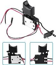 Interruptor de gatillo de taladro eléctrico, 7.2 V - 24 V Batería de litio Interruptor de gatillo de control de velocidad de taladro inalámbrico con luz pequeña