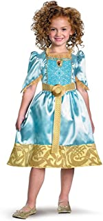 Brave Merida Classic Costume, Auqa/Gold, Small