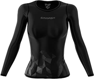 Smmash Femme Compression Manche Longue Top BUBBLE CrossFit