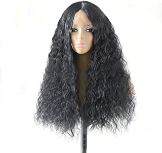 Hairpieces Hairpieces Fashian Beauty in The Corn Hot Micro-Volume Long Hair Before The Lace Chemical Fiber Wig Headgear for Daily Use and Party (Color : Photo Color, Size : 24 inches)