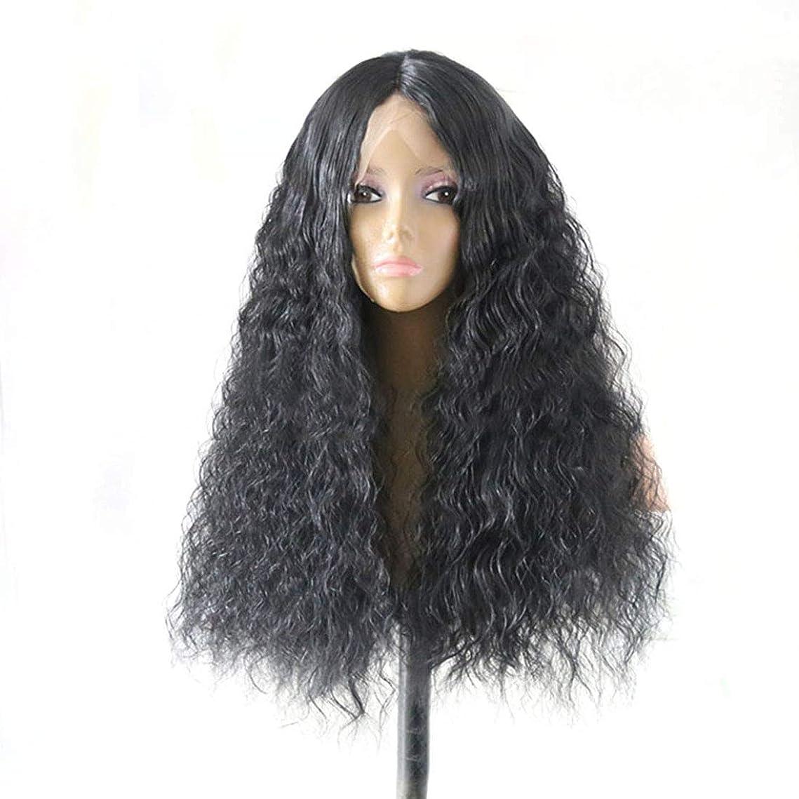 ヒステリック理論的十一Yrattary レースの前にトウモロコシの熱いマイクロボリュームロングヘアの美しさ毛ウィッグヘッドギア合成髪レースかつらロールプレイングかつら (色 : Photo Color, サイズ : 16 inches)
