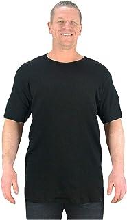 Kam Big Mens Black Wyatt Short Sleeve Thermal Top T Shirt Vest Underwear Sizes 2XL 3XL 4XL 5XL 6XL 7XL 8XL