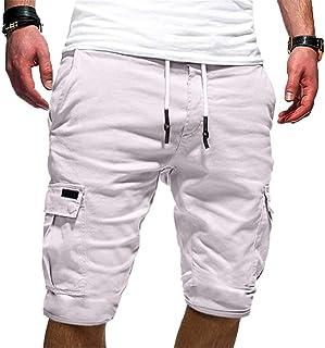 Fashion!! SFE Men Summer Shorts,Men`s Sport Pure Color Bandage Casual Loose Sweatpants Drawstring Shorts Pant