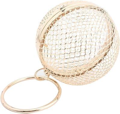 VALICLUD Hohle Metall Clutch Bag Kugelform Umhängetasche Frauen Abend Clutch für Hochzeitsfeier