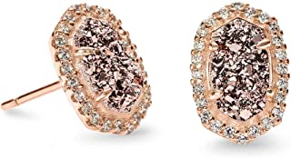 Cade Stud Earrings in Rose Gold Drusy CZ Rose Gold