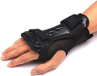 Andux Ski Gloves Extended Wrist Palms Protection Roller Skating Hard Gauntlets Adjustable Skateboard Gauntlets Support HXHW-01