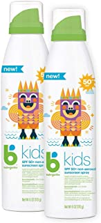 Babyganics Sunscreen Continuous Spray 50 SPF, 6oz, 2 Pack, Packaging May Vary