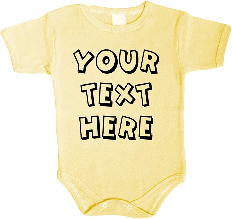 Tradebox Ihr WunschText Hier Baby Body Selbst Gestalten Dein individueller Druck Personalisiert Babykleidung Strampler Unterw/äsche beeindruckend Geschenk /Überraschung Geburtstag Weihnachten
