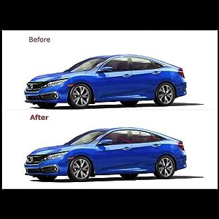 Chrome Trim Delete Vinyl Kit Blackout Overlays Compatible with 2017 2018 2019 Honda Civic Sedan Chrome Trim (Matte Black)