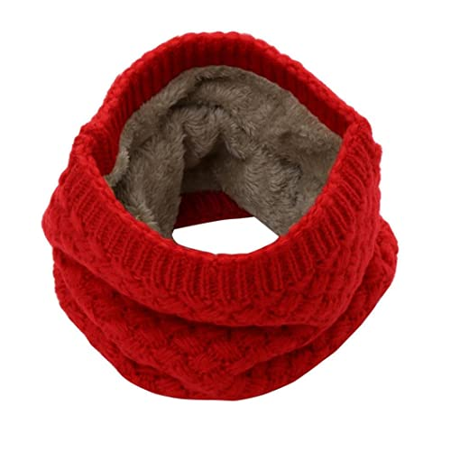 90c372b8f Pingtr Men Women Winter Thick Knitted Snood Scarf Cosy Woollen Loop  Infinity scarf,12 Colors