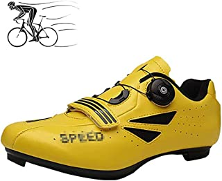 ZMYC Bicycle Shoes For Adults MTB Shoes Breathable Racing Shoes Cycling Shoes Unisex Padding For Mountain Bike Shoes (Color : Yellow, Size : 36)