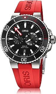 8038e15932 Oris Aquis Homme Regulateur Titane Automatique Cadran Noir Rouge  supplémentaire Sangle de Montre – Modèle :
