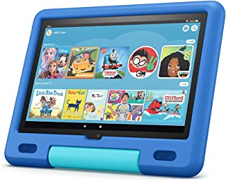 """All-new Fire HD 10 Kids tablet, 10.1"""" HD, ages 3–7, with 2-year warranty, thousands of apps, games, books and more include..."""