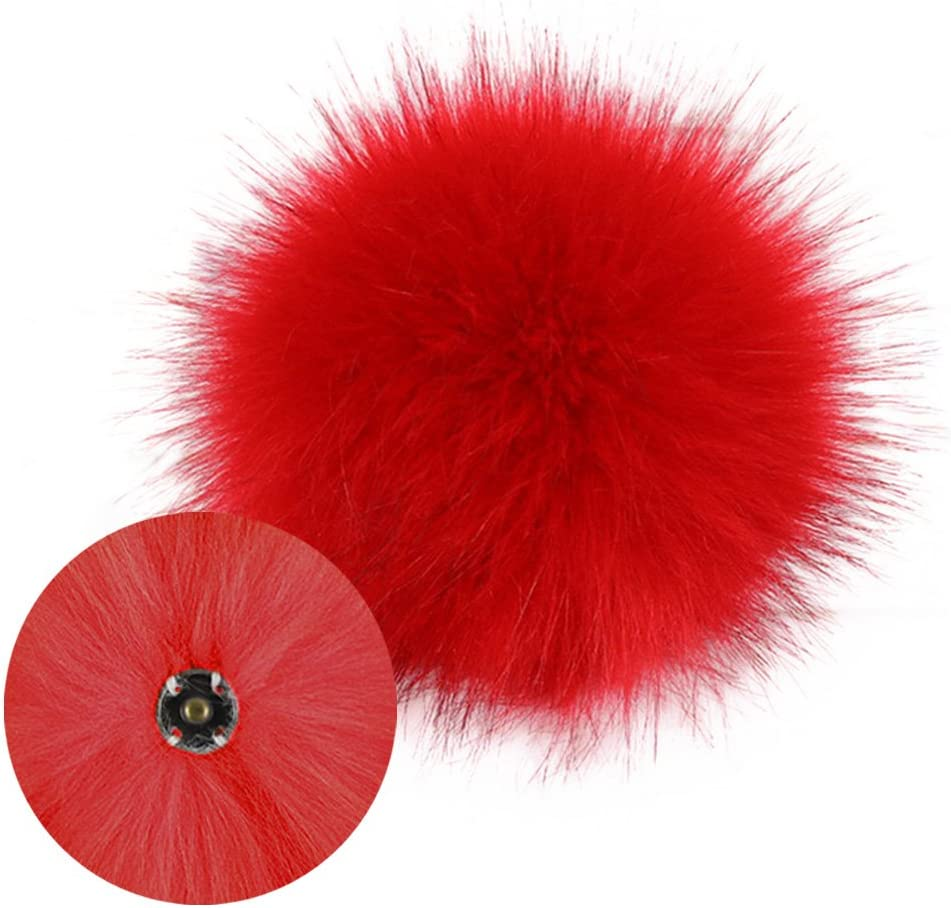 12 Pcs//Pack 10 cm À faire soi-même Pompon Balles en fourrure synthétique boule pour Pom Pom Chapeaux Accessoires Royaume-Uni