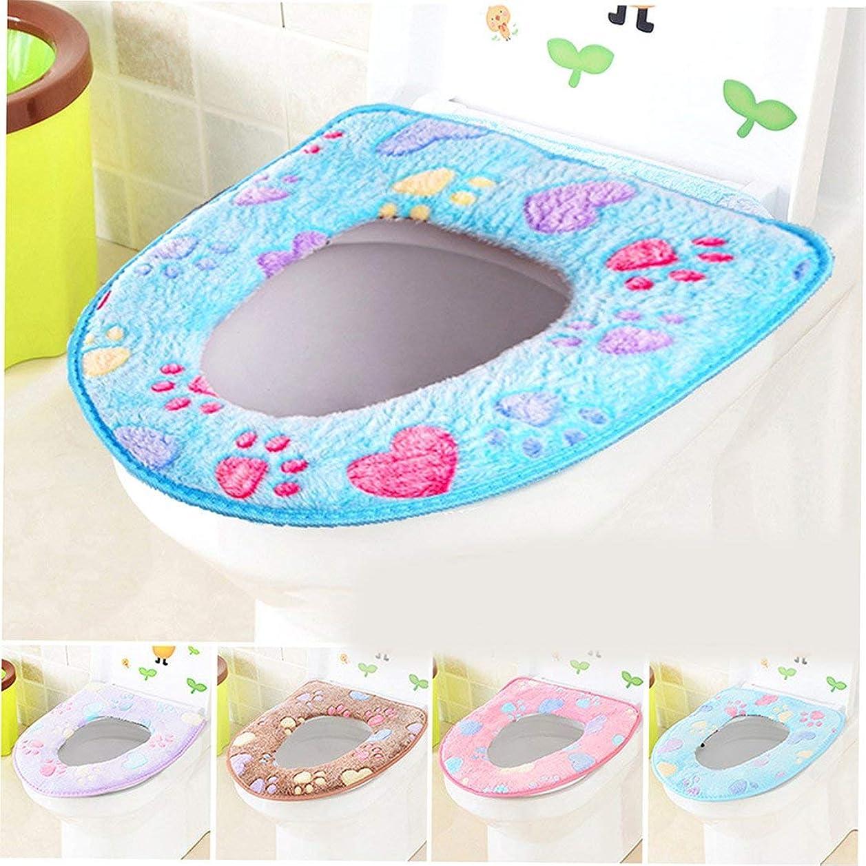 合併エレクトロニックポインタSwiftgood トイレマット浴室柔らかく厚い暖かい便座カバーパッド伸縮性洗える布トイレ便座クッション