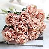 Coffret Fleurs Artificielles Fausses Petites Fleures Couronne Fleurs Artificielles Rtificielle Faux Roses Flanelle Fleur Bouquet De MariéE Mariage FêTe De La Maison DéCor (G)