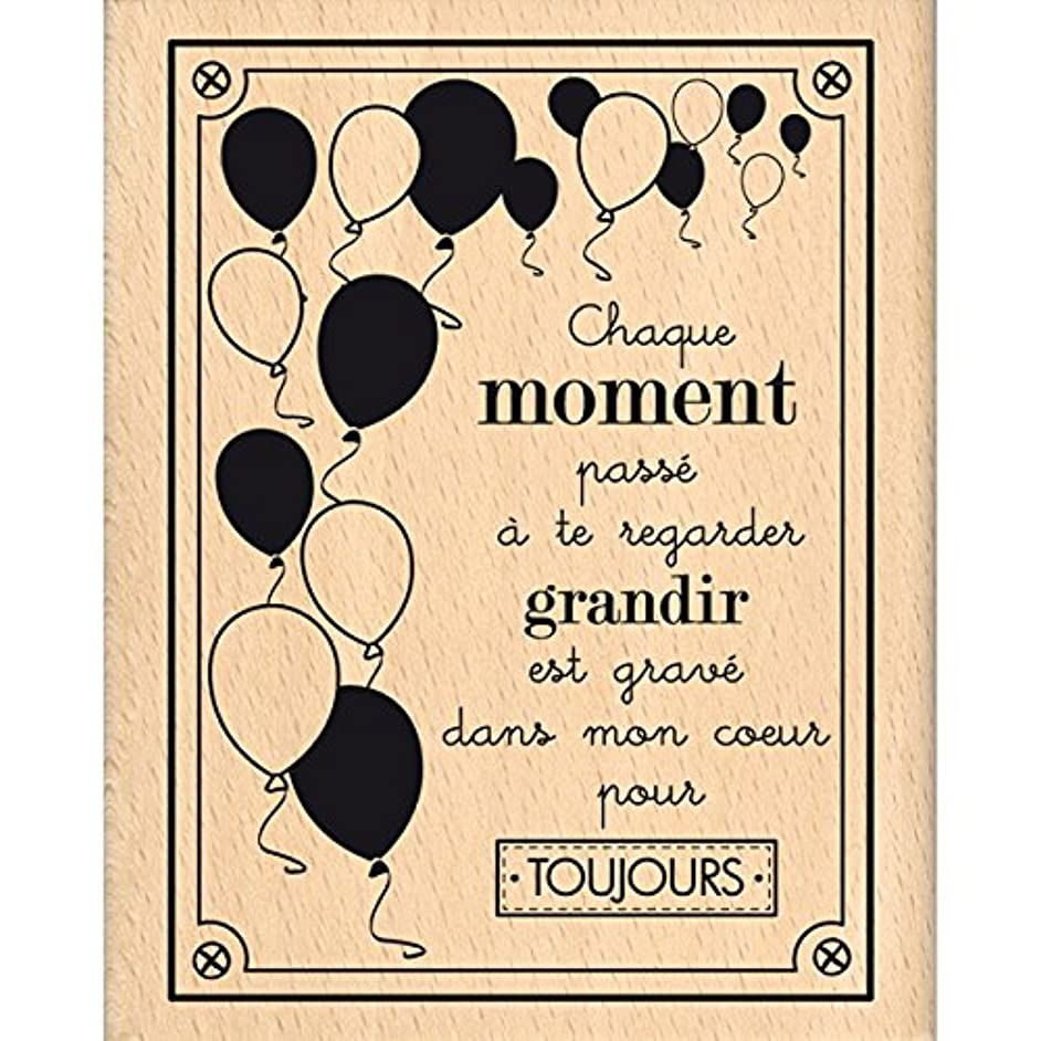 Florilèges Design fg116059?Etched in My Heart/Wood Rubber Stamp Wood 10?x 8?x 2.5?cm