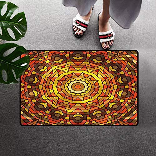 N/A Impresión 3D De Tapetes Decoración Alfombra De Felpudo De Perfil Bajo con Motivos Circulares Y Redondos con Líneas En Espiral En Colores De Contraste Decoración Victoriana