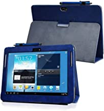 Kuesn for Samsung Galaxy Note 10.1 (2012 Edition) GT N8013 N8000 Flip case Cover - SCH-I925 Folio Stand Back Book Cover for GT-N8010 N8005 N8020 Tablet pu Leather case (Dark Blue)