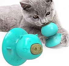 USWT Cat Suction Lick Toy, 2pcs Catnip Treats, Self-Playing Molar Toy
