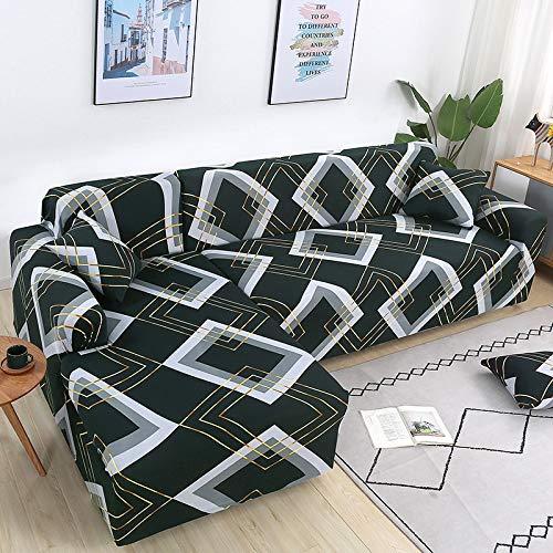 ASCV Elastische Sofabezüge für Wohnzimmer L-Form Sofa Need Buy 2 Stück Sofabezug Stretch Corner Couchbezug Schonbezüge A16 3-Sitzer
