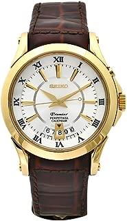 Men's SNQ118 Premier Brown Leather Perpetual Calendar Watch