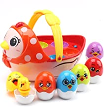 PUSITI Baby Toys Electronic Learning Toys for 2 3 4 5 Years Old Toddlers Kids Education Music Toys Easter Eggs and Hen Basket Musical Toys for Boys and Girls Birthday Gift 18 Months and Up