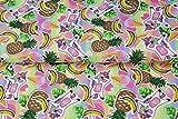 Stenzo – Jersey Stoff mit Regenbogen-Einhörnern und