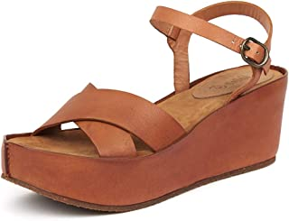 Saint G Womens Tan Leather Wedges