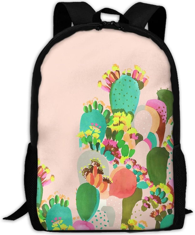 86f979c46225 Backpack Laptop Travel Hiking School Cactus Daypack Shoulder Bag ...