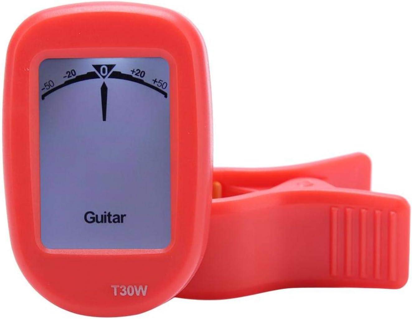 Afinador de guitarra de alta sensibilidad y precisión para músicos profesionales o principiantes para guitarra, bajo, ukelele, violín, banjo(red)