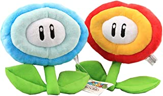 William Super Mario Bros. Fire Flower & Ice Flower Plush Stuffed Toy 7'' Set of 2 pcs