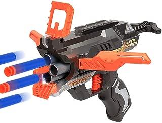 CACUSN Guardians Dart Blaster Guns | Rotating 4-Dart Barrel Toy Blasters | Foam Dart Toy Guns | 12 Suction Darts Included | 2 Dartboards