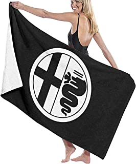 Unisex Alfa Romeo Logo Serviettes de Plage Serviettes de Bain for Teen Adults Travel Serviette Washcloth 31x51 inches