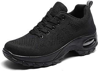 Dames Luchtkussen Loopschoenen Mode Ademend Casual schoenen Ronde neus Veters Plateau Wedges Jogging Fitness Trainers