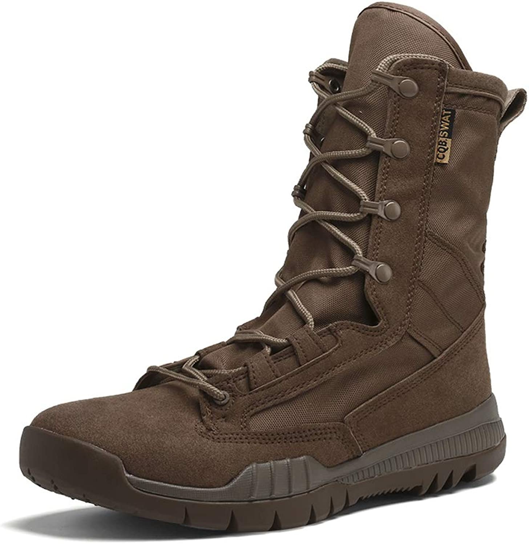 Men Military Boots Tactical Combat Boots Outdoor Mid-Calf Army Boots Summer Autumn Desert Boots